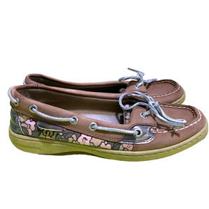 Sperry Rosefish Floral Sparkle Boat Shoe 6.5M